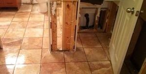 Water Damage Restoration From Bathroom Flood
